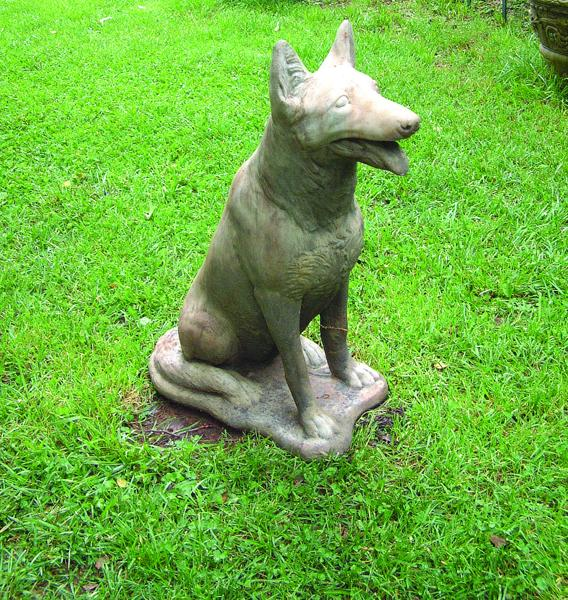 German Shepherd Stone Statue