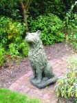 Collie Dog Stone Statue