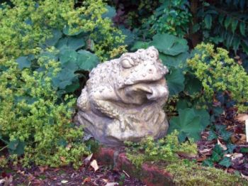 Horny Toad Stone Statue