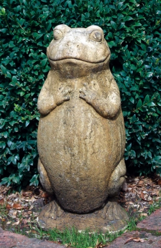 Upright Frog Stone Statue