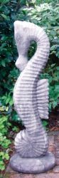 Large Seahorse Stone Statue