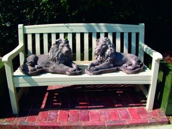 Pair of Chatsworth Lion Stone Statues