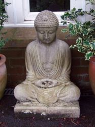 Meditating Buddha Stone Sculpture
