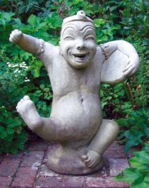 Chinese Entertainer Stone Statue