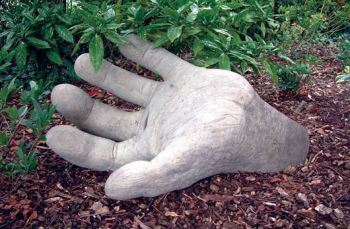 Giant Left Hand Stone Sculpture