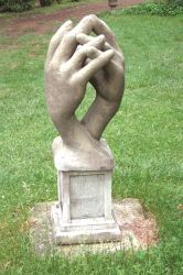 Entwined Hands Stone Sculpture