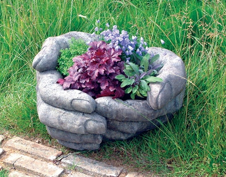 Cupped Hands Stone Sculpture