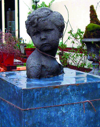 Small Boy Bust Stone Statue