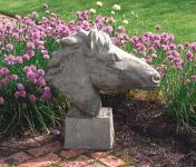 Equine Bust Stone Statue
