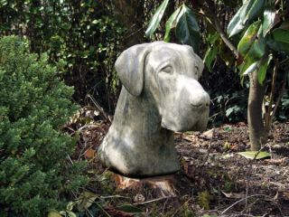 Great Dane Head Stone Statue