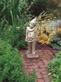 Child Clown Stone Statue