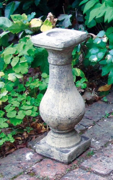 Baluster Candlestick Stone Statue
