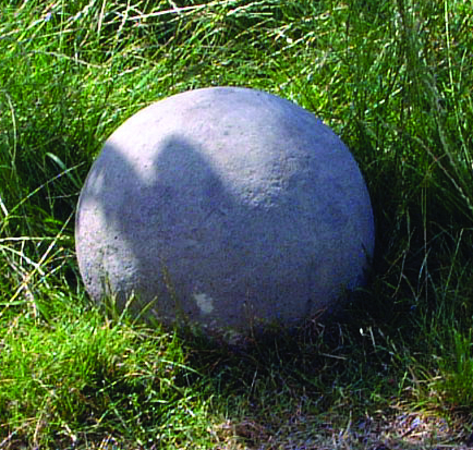 Large Sphere Stone Statue