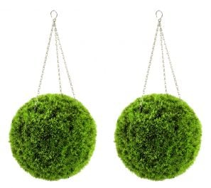40cm Pair of Artificial Grass Effect Topiary Balls by Gardman™