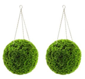 27cm Pair of Artificial Grass Effect Topiary Balls by Gardman™