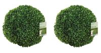 Pair of 40cm Leaf Effect Artifical Topiary Balls by Gardman�