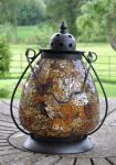 Zanzibar Amber Mosaic Glass Table Lantern