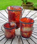 Roman Opal 8.3cm Mosaic Glass  Tabletop Candle Holder