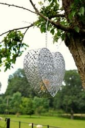 Convent Hanging Heart Candle Holder 15.5cm
