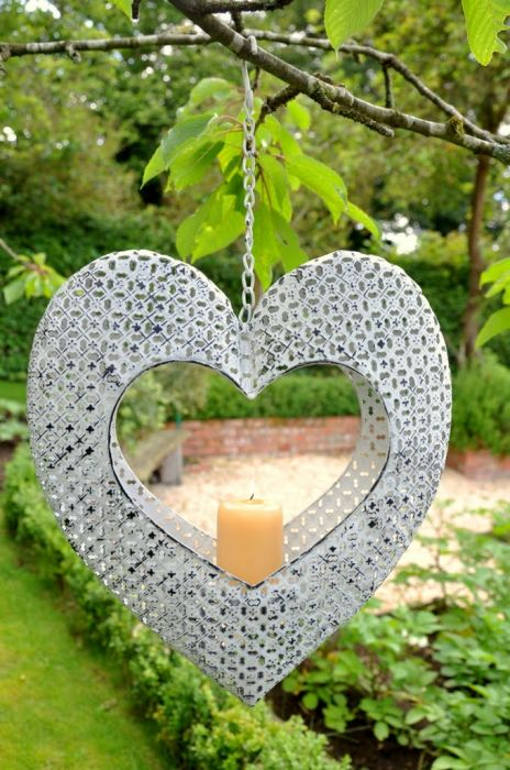 Monastery Hanging Heart Candle Holder - 14cm