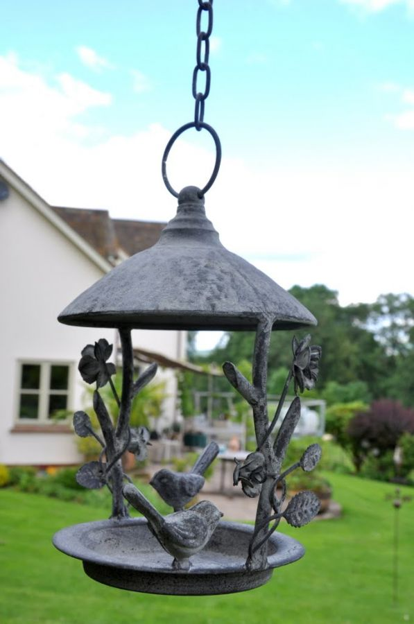 Paris Hanging Decorative Bird Feeder - 34cm