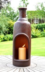 Santa Monica 56cm Tabletop Chimenea Candle Holder