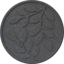 Recycled Rubber Stepping Stone with Leaf Design - 45x45cm