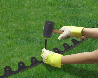 1m Landscape Recycled Rubber Garden Edging - H5cm