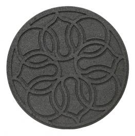 45cm Recycled Rubber Grey Stepping Stone
