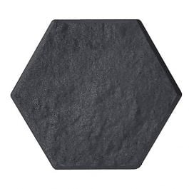 33x38cm Recycled Rubber Hexagon Stomp Stepping Stone