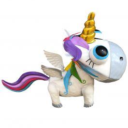 H29cm Baby Metal Unicorn Sculpture