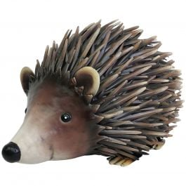 H21cm Deluxe Metal Hedgehog Sculpture