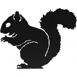 H30cm Squirrel Garden Silhouette in Black