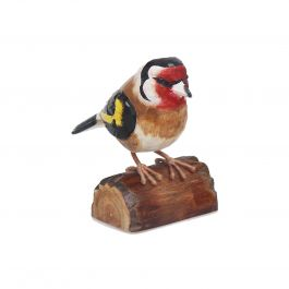 H12cm RSPB Hand Crafted Wooden Goldfinch Garden Ornament