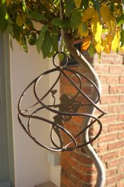 Hanging Fairy Catcher with Standing Fairy in Brown