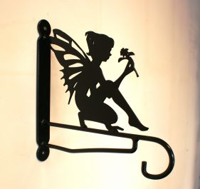 Ornamental Garden Fairy with Flower Bracket
