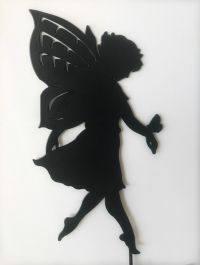 40cm Large Fairy Steel Silhouette