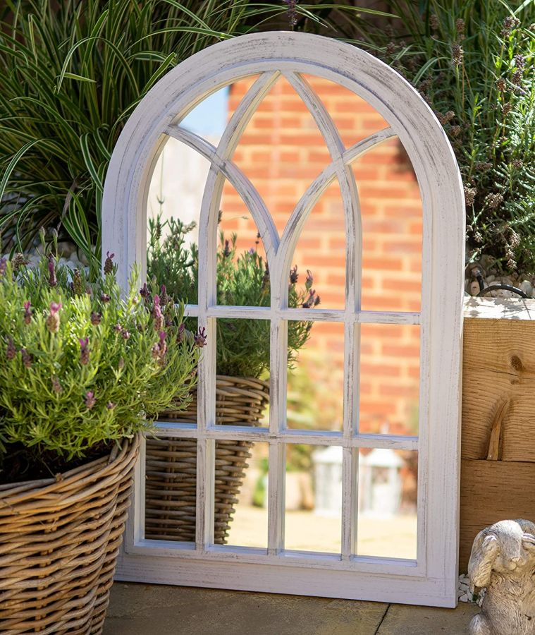2ft 6in x 1ft 8in Toscana Garden Wall Mirror by Creekwood™