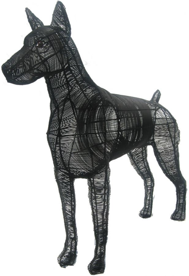 Topiary Dog Doberman CL W