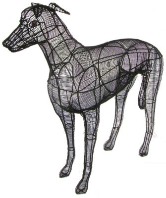 Topiary Dog Greyhound CL W