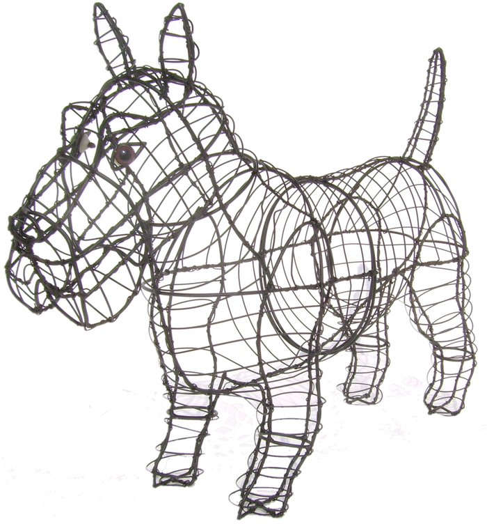 Topiary Dog Scottie