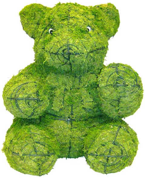 Topiary Bear sitting With Moss Filling