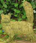 Topiary Cat walking With Moss Filling