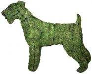 Topiary Dog Airedale Terrier With Moss Filling