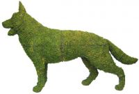 Topiary Dog German Shephard standing With Moss Filling