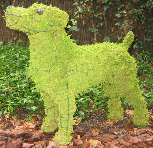 Topiary Dog Jack Russell With Moss Filling