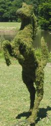 Topiary Horse prancing With Moss Filling
