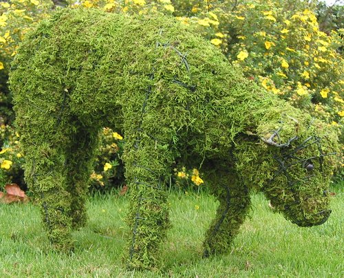 Topiary Lamb head down With Moss Filling