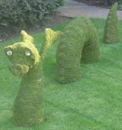 Topiary Loch Ness Dragon With Moss Filling