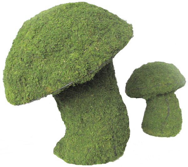 Topiary Mushroom With Moss Filling
